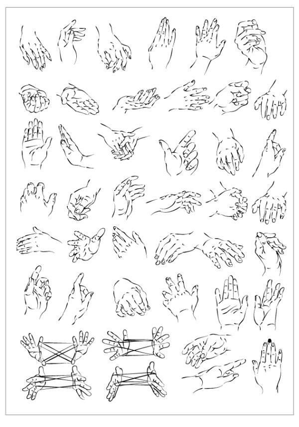 画手势方法步骤图片