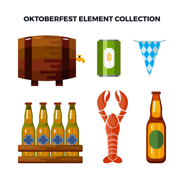 创意啤酒节元素