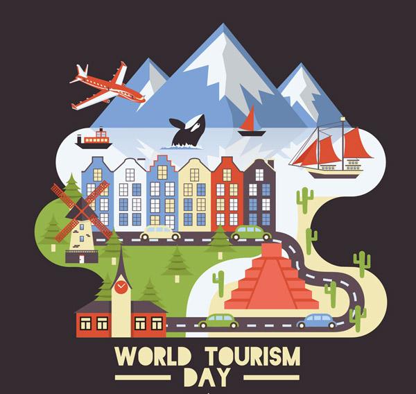 世界旅游日风景