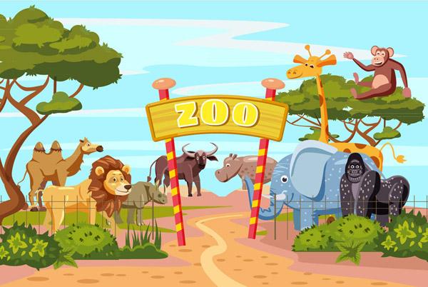卡通动物园大门