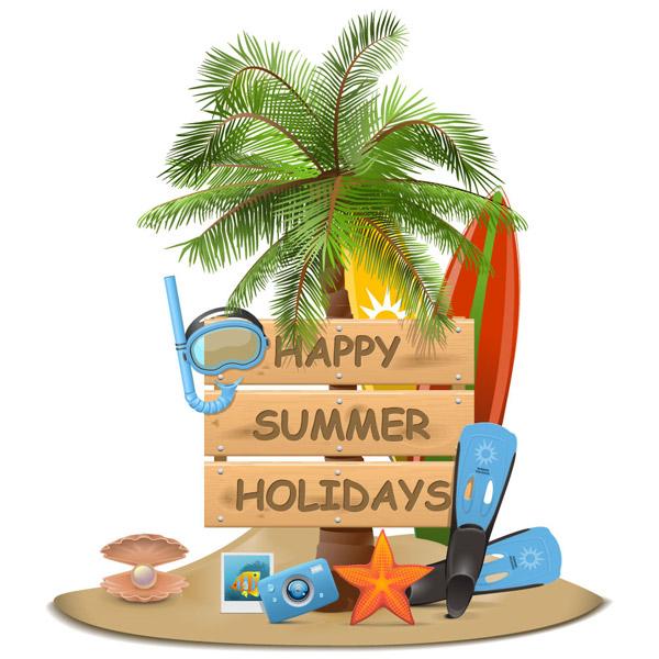 夏季旅行度假物品