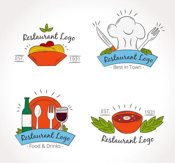 彩绘餐厅标志