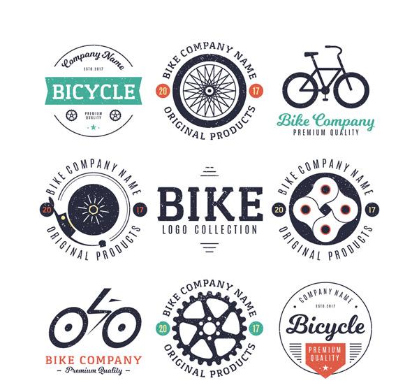 复古单车元素标志