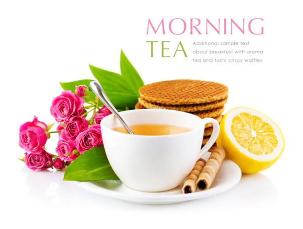 早茶和食物花卉