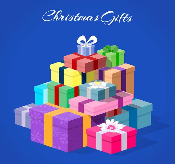 立体圣诞节礼物堆