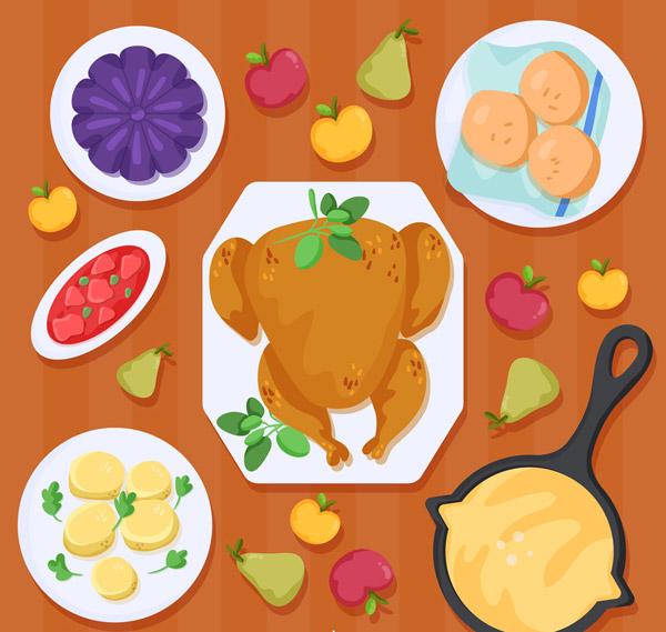感恩节餐桌