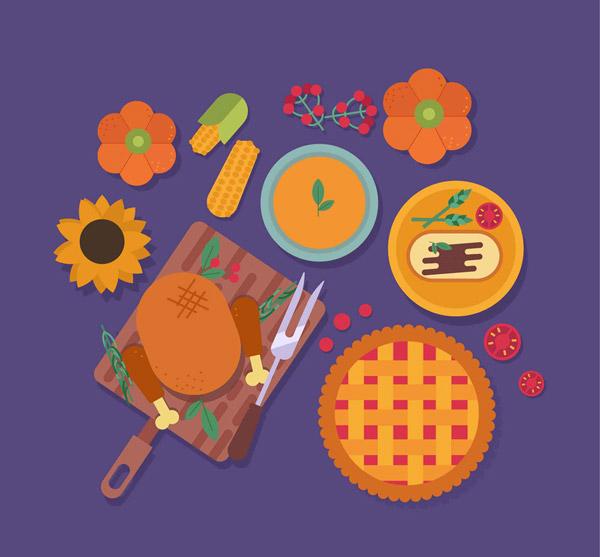 美味感恩节食物