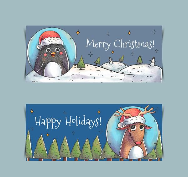 圣诞动物banner