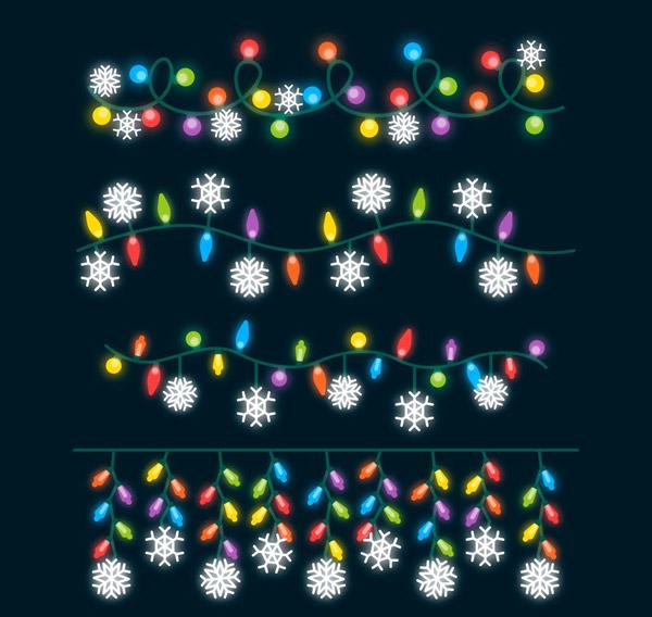 雪花节日彩灯串