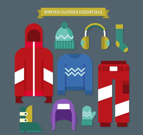 彩色质感冬季服饰
