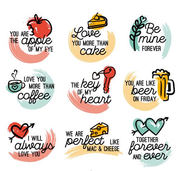 情人节语言标签