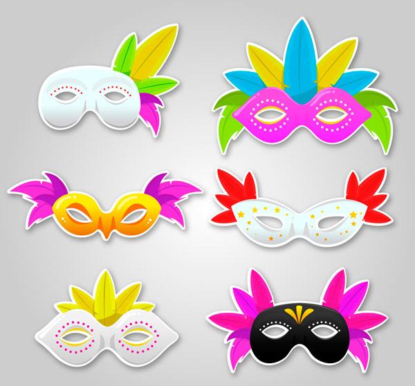 彩色面具设计