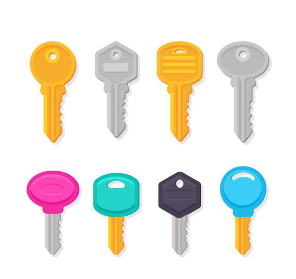 8款彩色钥匙设计