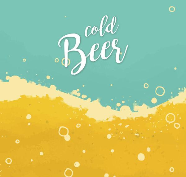 凉爽啤酒海滩