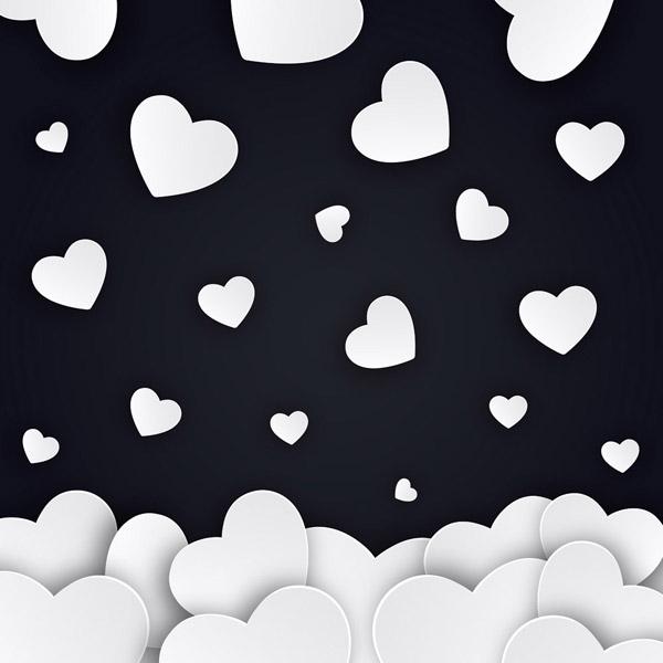 白色爱心海洋