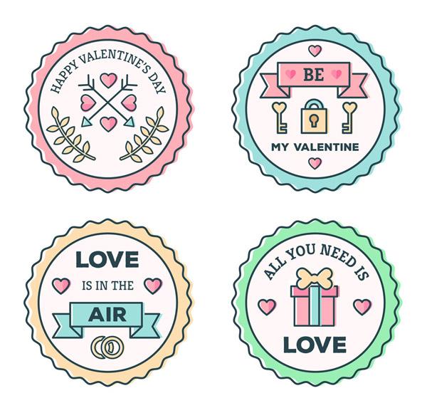 情人节标签设计