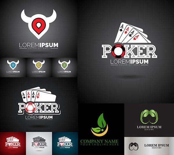 扑克牌与绿叶标志