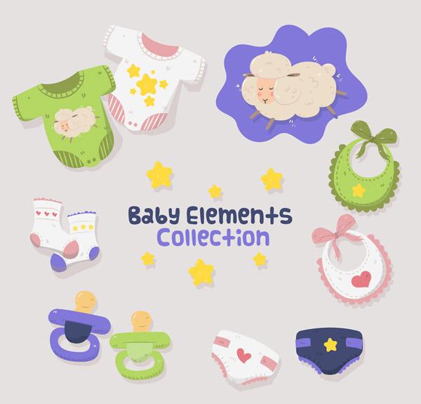 可爱婴儿元素
