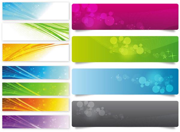 矢量背景所需点数: 0 点 关键词: 绚丽色彩横幅模板矢量素材,彩色