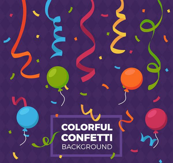 纸屑和节日气球