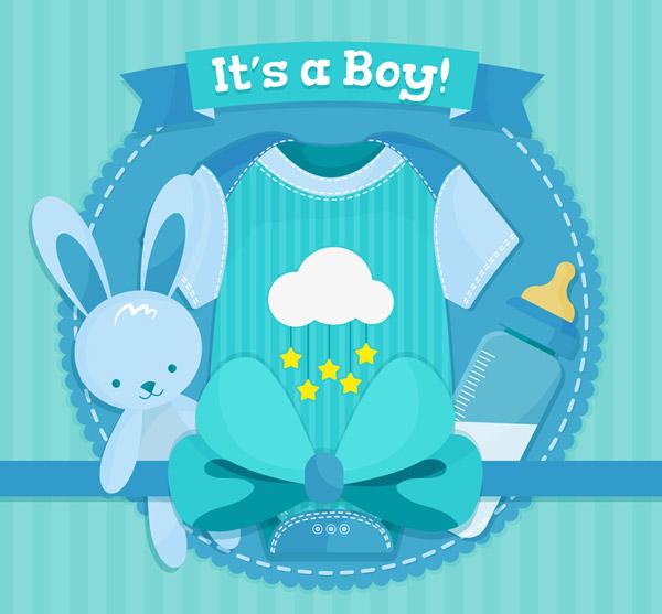婴儿爬服和兔子玩偶