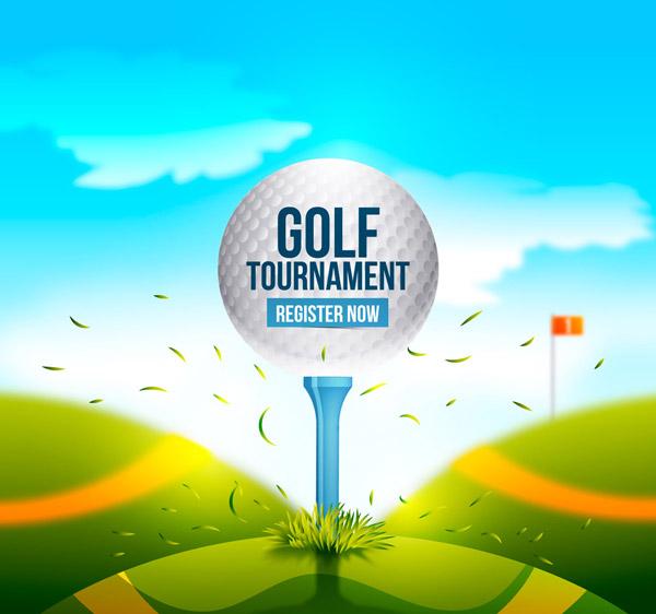 高尔夫锦标赛海报