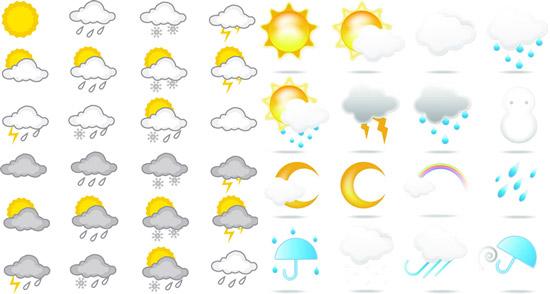 素材分类: 矢量各式图标所需点数: 0 点 关键词: 气象预报天气标识