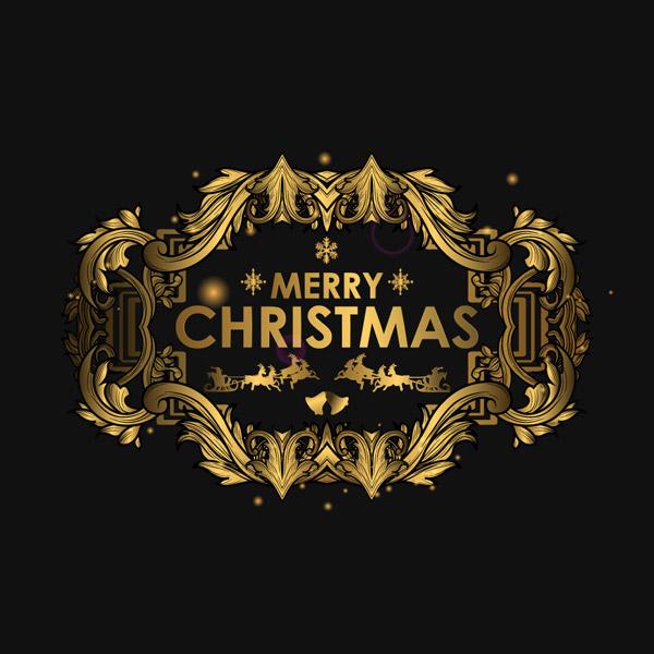 圣诞快乐艺术字