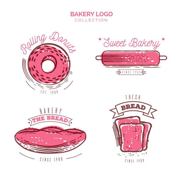 粉色烘培元素标志