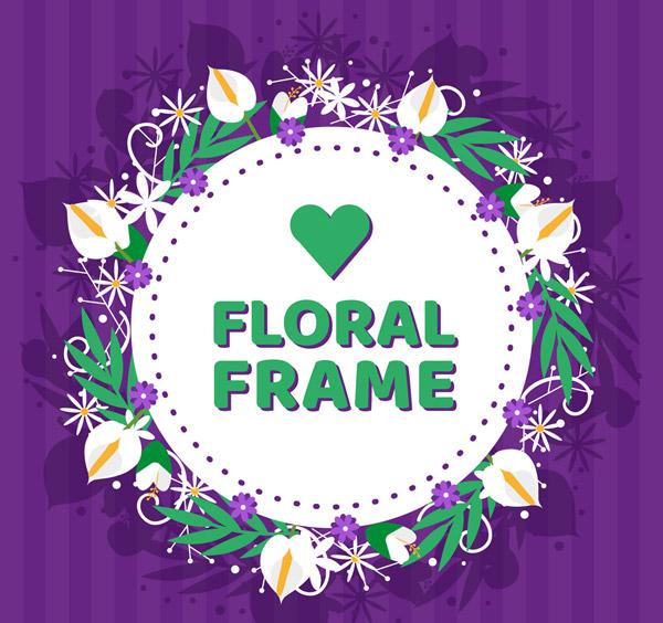 白鹤芋和菊花框架