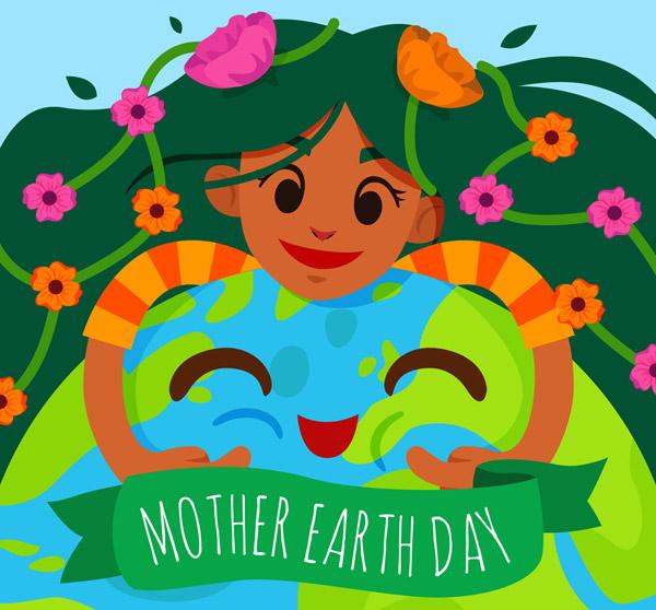 怀抱地球的女孩