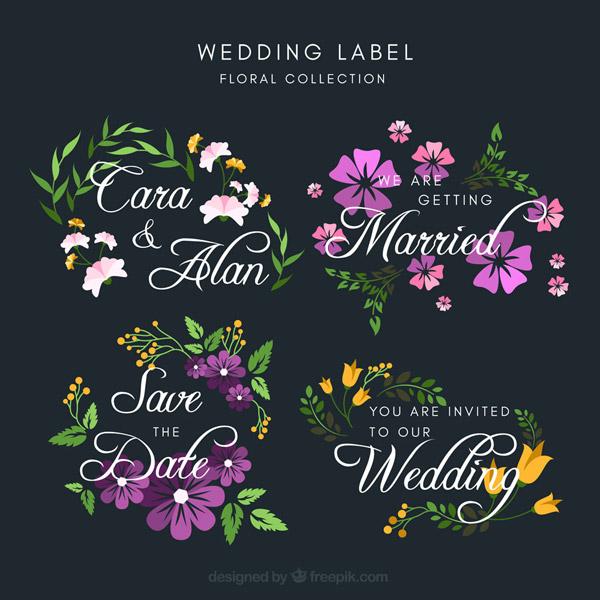 婚礼花卉标签