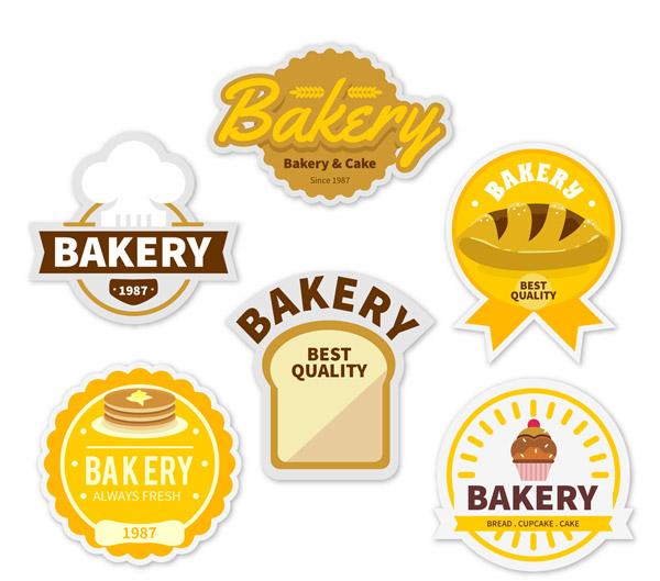 金色面包房标签