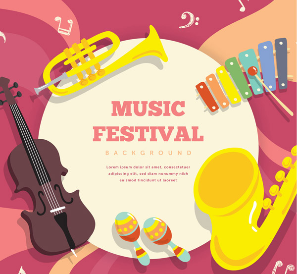音乐节乐器框架