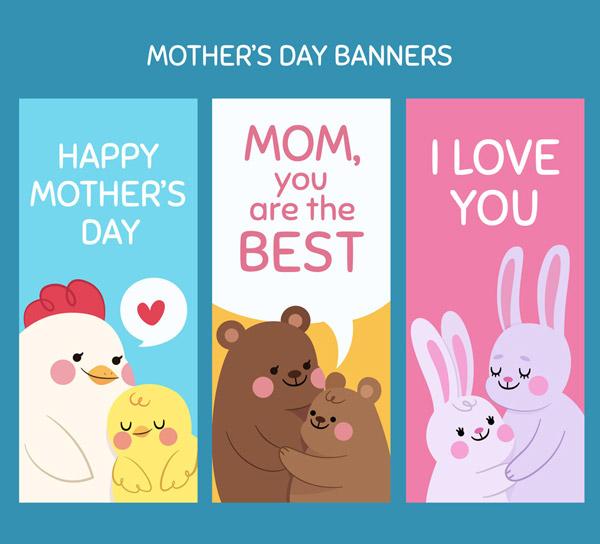 母亲节动物banner