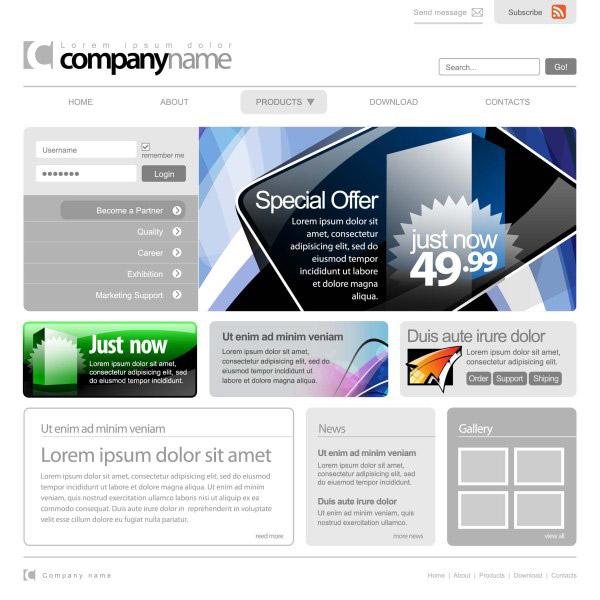 创意网页模板
