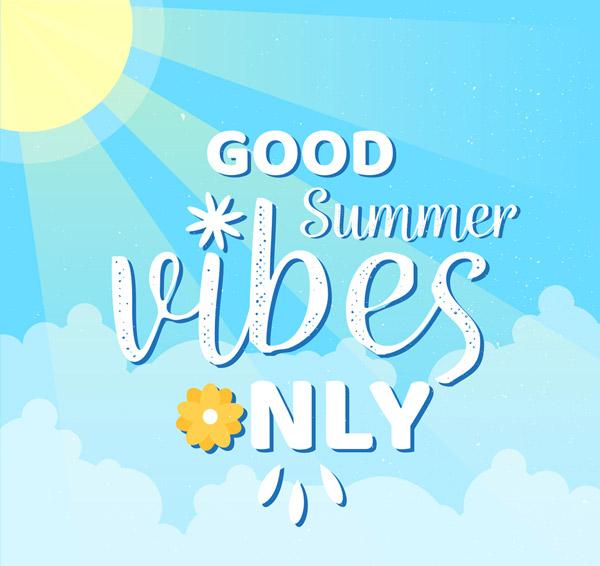 夏季好天气艺术字