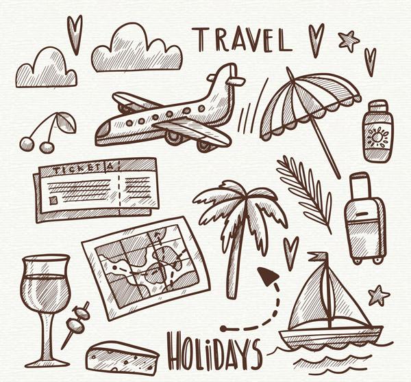 假期旅行元素