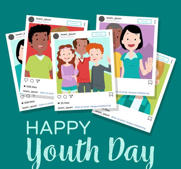 青年节堆叠照片