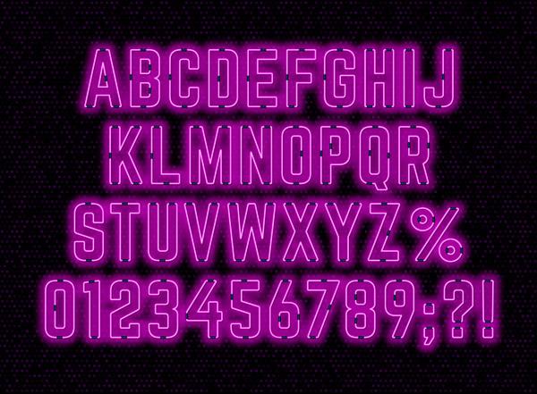 霓虹灯字母和数字