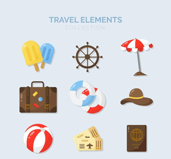 旅游元素图标