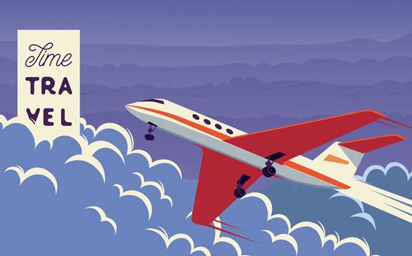 云中的飞机矢量