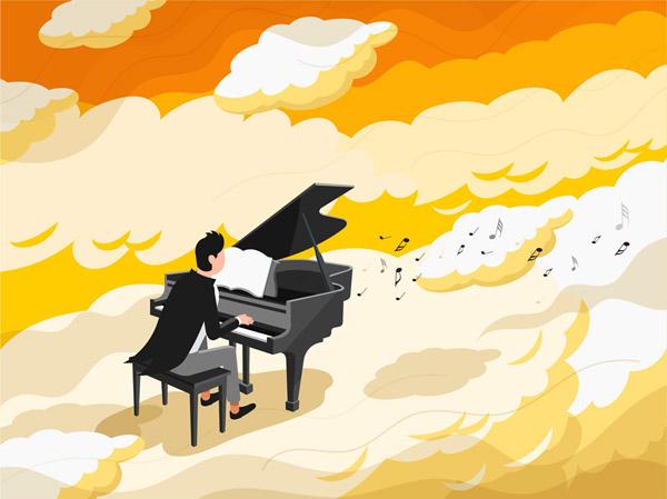 演奏的钢琴师