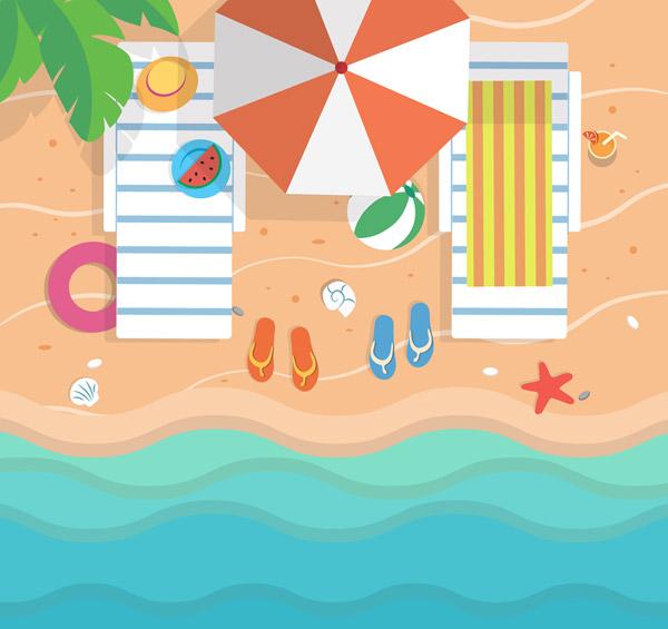 海边度假风景俯视图