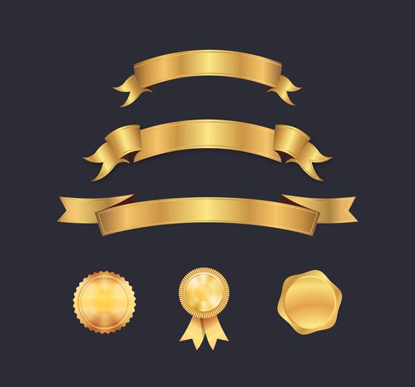 丝带条幅和徽章