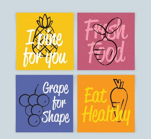 水果蔬菜卡片