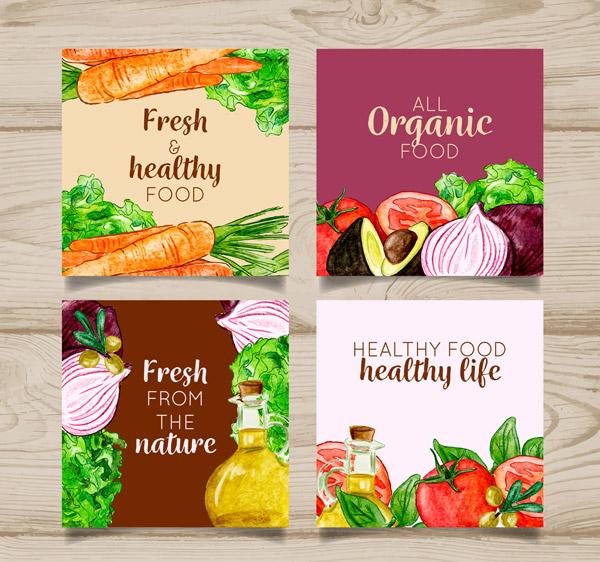 彩绘蔬菜卡片
