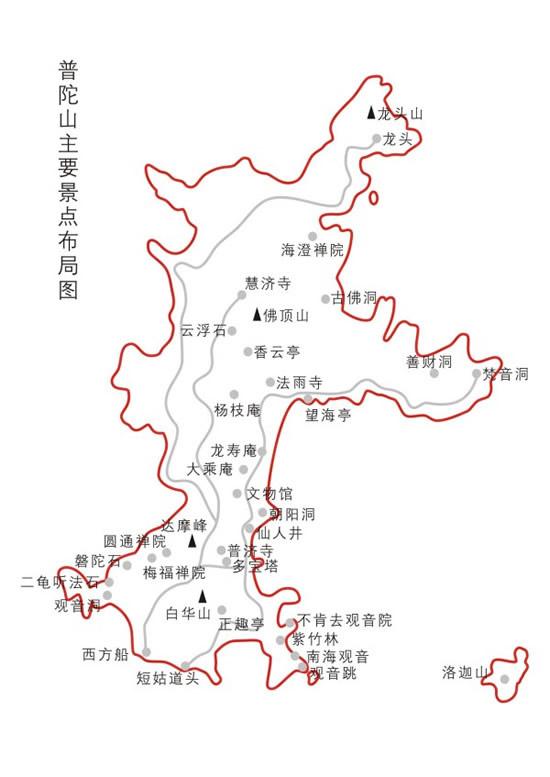 普陀山景区地图_素材中国sccnn.com