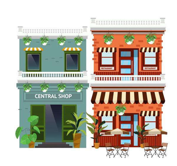 时尚商铺建筑