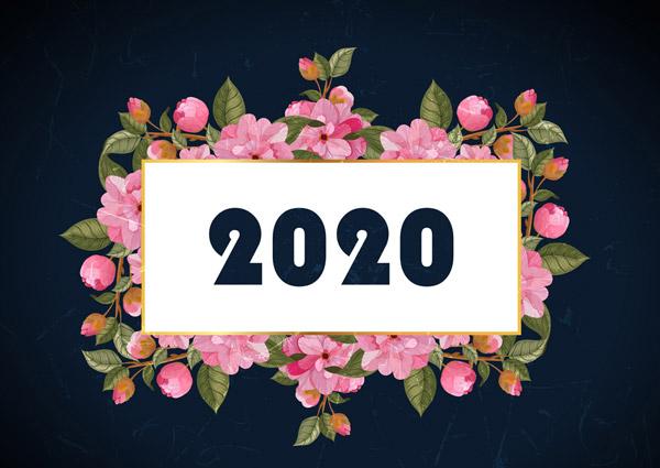 2020年粉色花卉